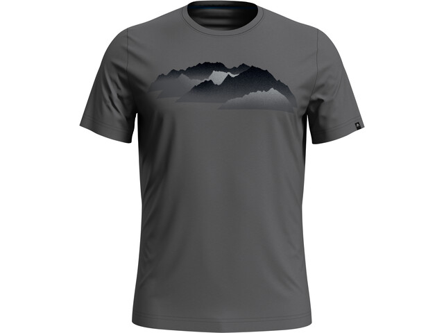 Odlo Nikko Print T-Shirt S/S Crew Neck Men odlo steel grey/mountain